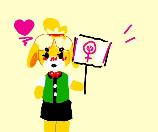 Isabella from Animal Crossing is a feminist.