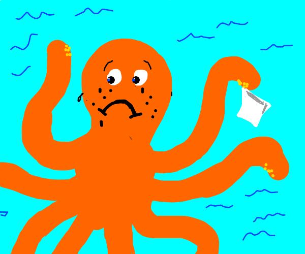 Octopus cries ink