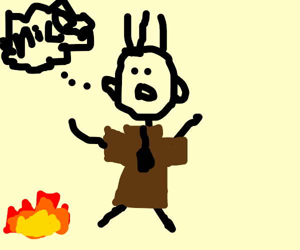 Eustace Bagge thinks fire is nice