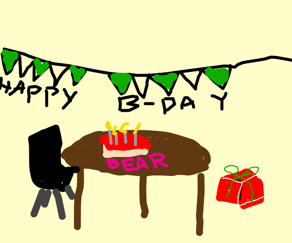 a bear's birthday party