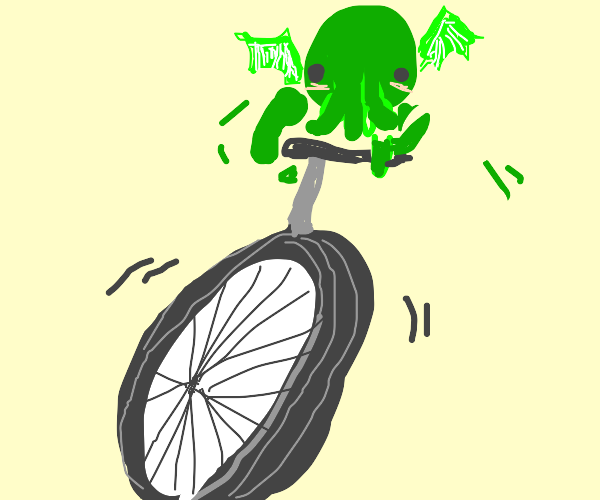 Cthulhu on a unicycle