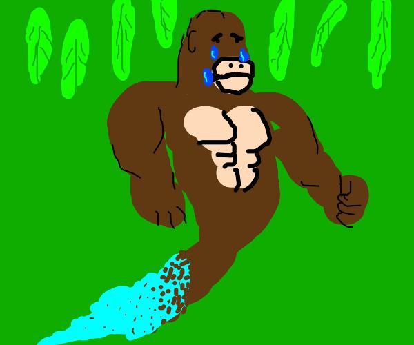Sad gorilla ghost