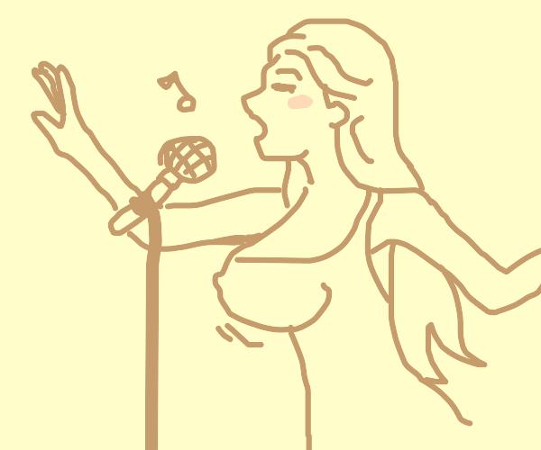 big tittie girl singing