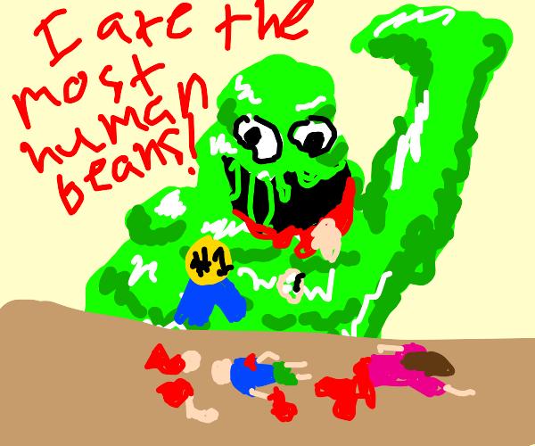 Slime monster wins human eating contest