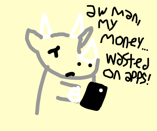 Rhino loses his money to mobile games