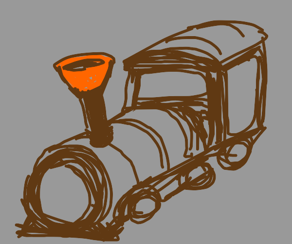 train with plunger instead of smoke pipe