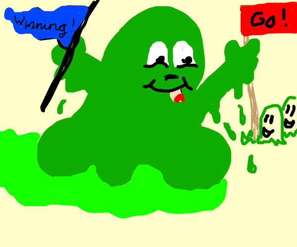 A slime winning