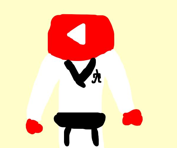 YouTube wears a karate gi