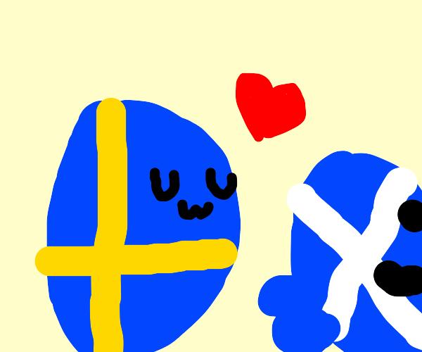 Sweden ball likes scotland