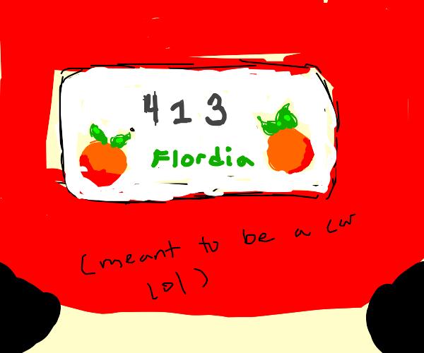 License plate 413