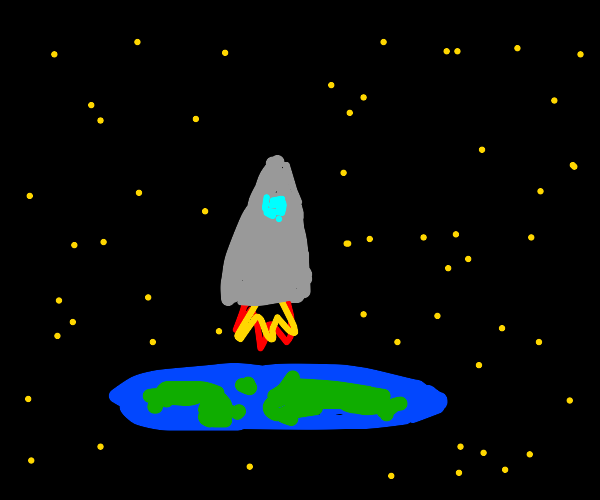 Flat-Earther takes a rocket to space