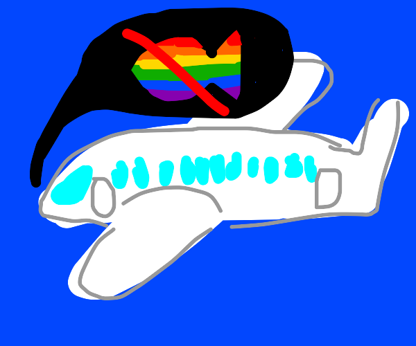 Plane does not accept gay fish