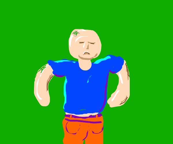 Plasticine figure of a man