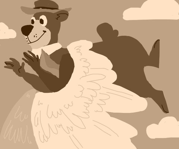 Yogi Bear Flying