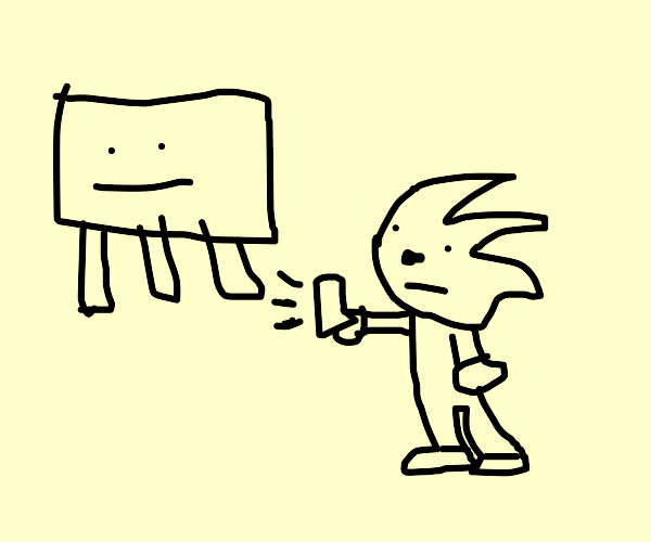 Youtuber sonic meets a ghast