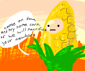 man with the body of a corn on the cob