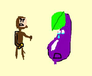 Curious George Doesn't Like Eggplant