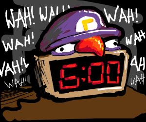 waluigi alarm clock. WAH WAH WAH WAH WAH WAH