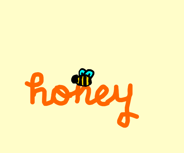 Bee laying in honey