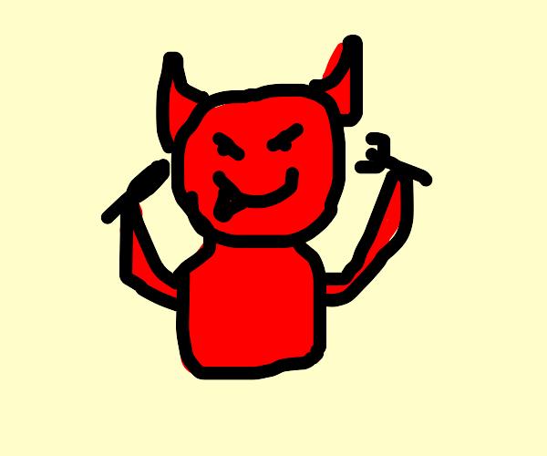 Devil ready to eat