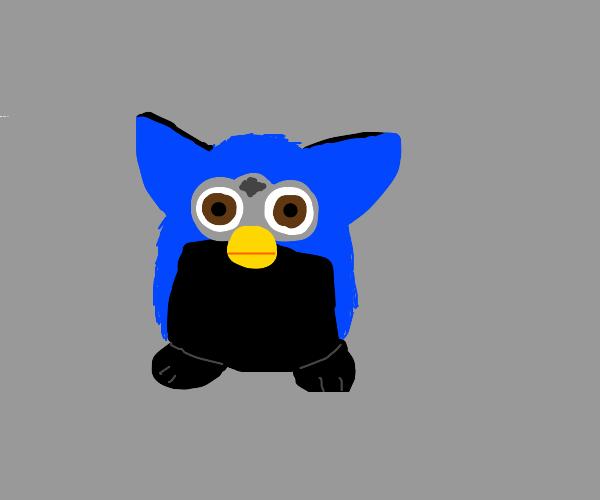 Blue and black furby