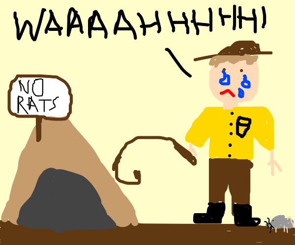 Indiana Jones cries about the no rats rule