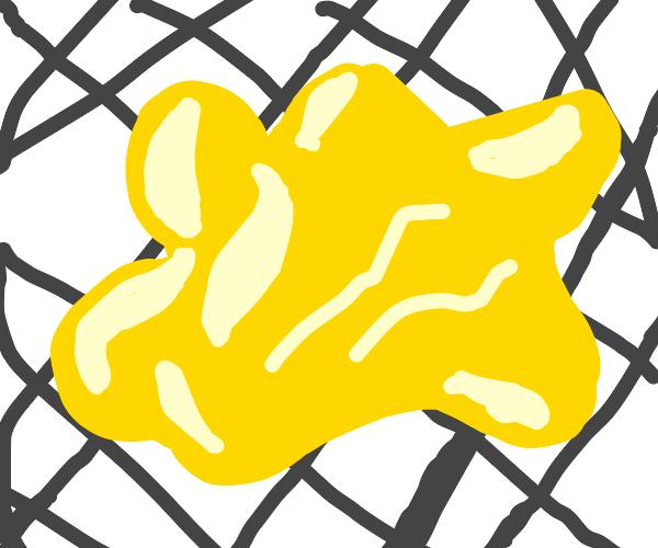 Mustard on a Tile Floor