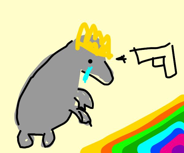 Tearful rat exterminator