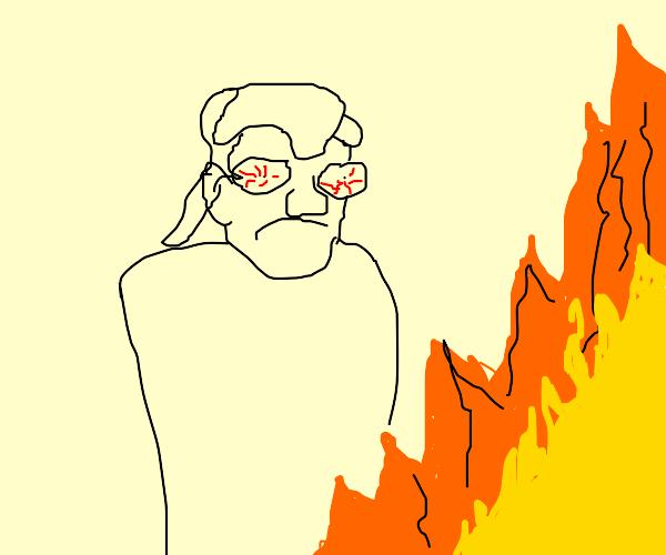 Smug Gaston watches the world but