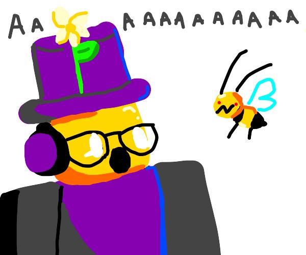 konekokitten overreacts to a wasp