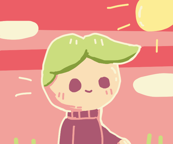 Green haired boi