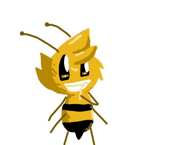 Bee picking it's yeeth