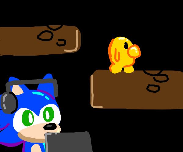 Sonic plays Speedy Blupi (Research Blupi 1st)