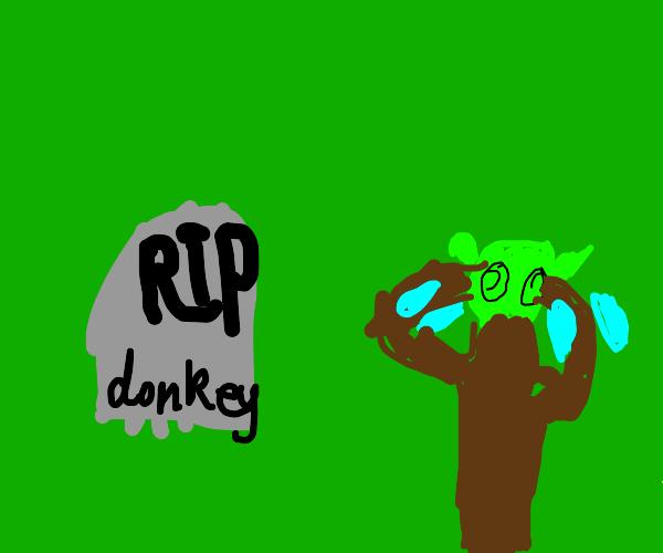 Donkey dies, Shrek cries