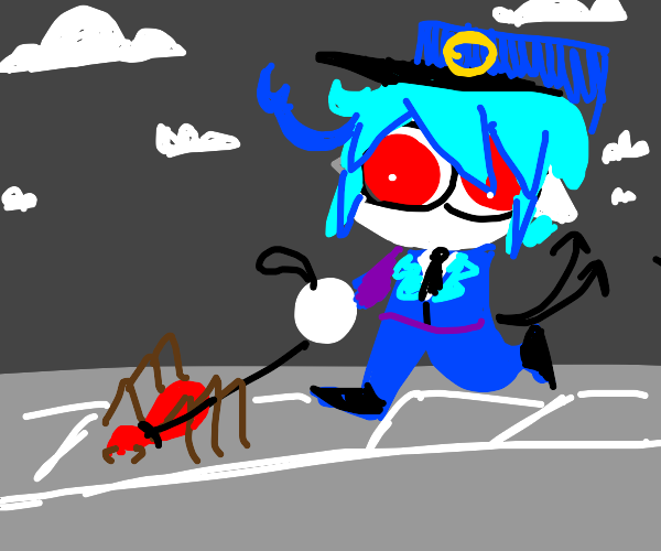 Walk your pet spider