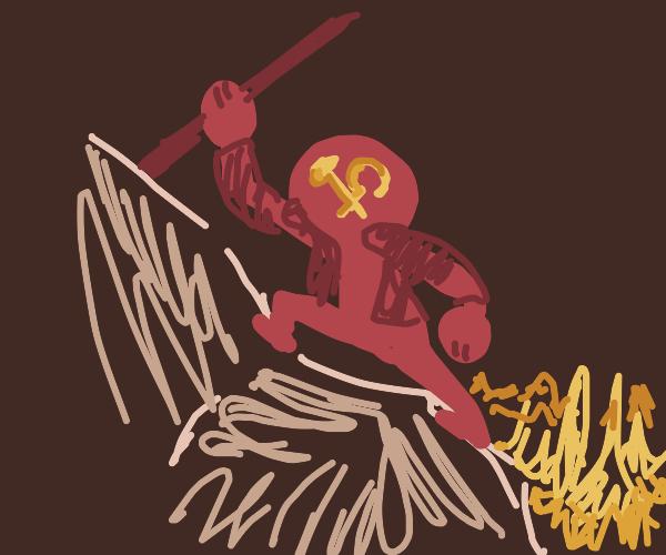 communist hiker