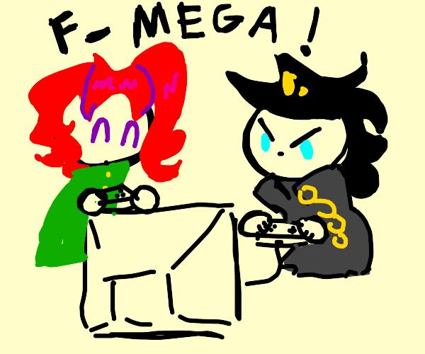jotaro and kakyoin playin f-mega