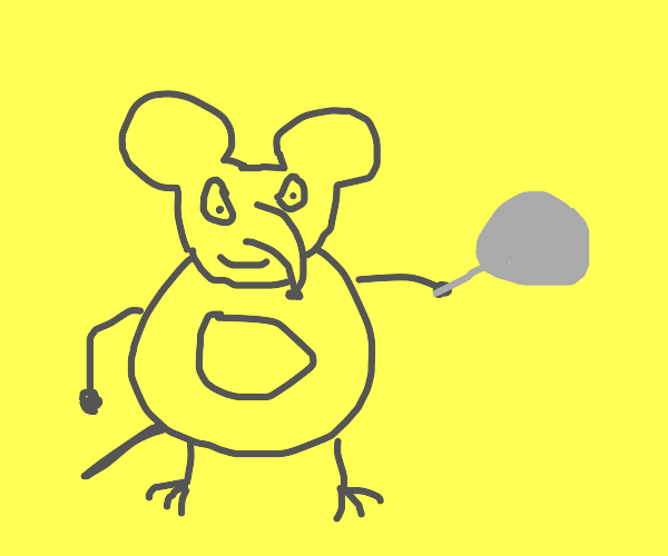 mouse with pan pride flag