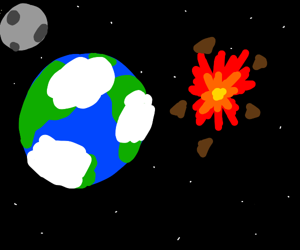 Asteroid explodes before it hits Earth