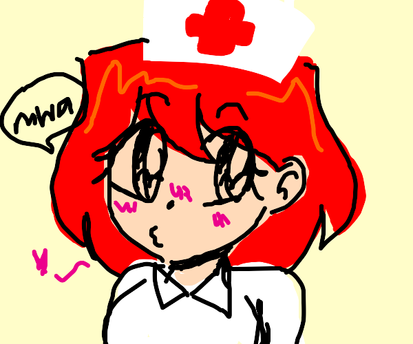 Anime Nurse kisses