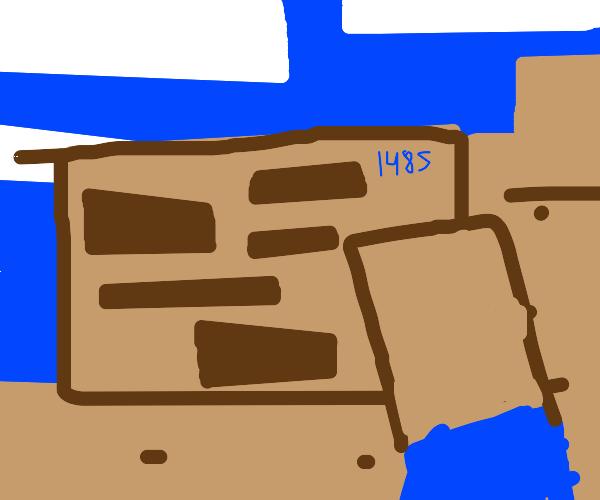 Minecraft map in 1485
