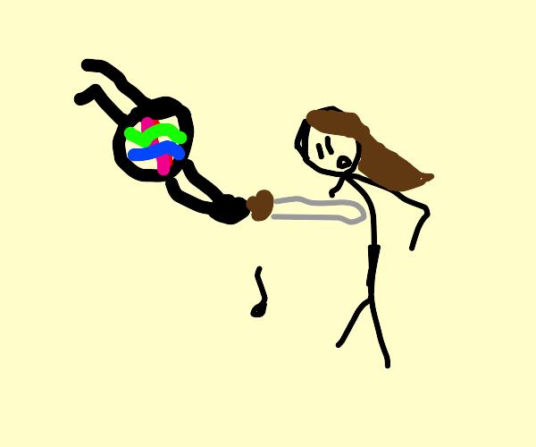 siri cutting off a woman's arm