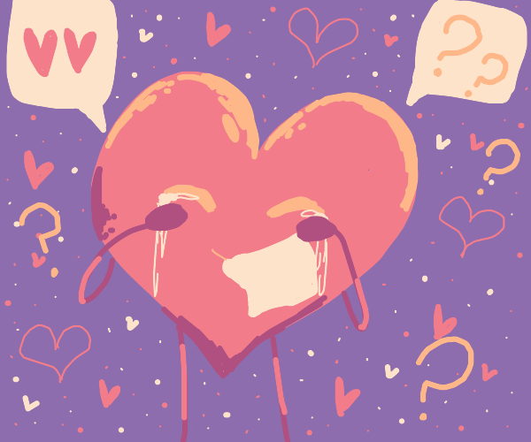 Confused crying heart