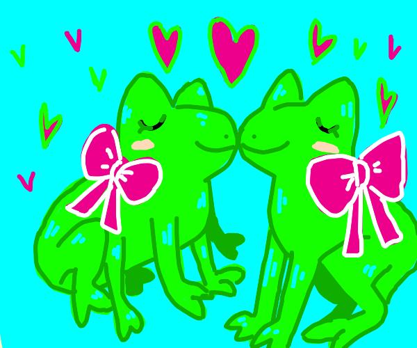 gay 6 Leg Frog in love with gay Long Leg Frog