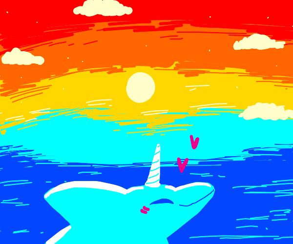 Unicorn Dolphin enjoying the view