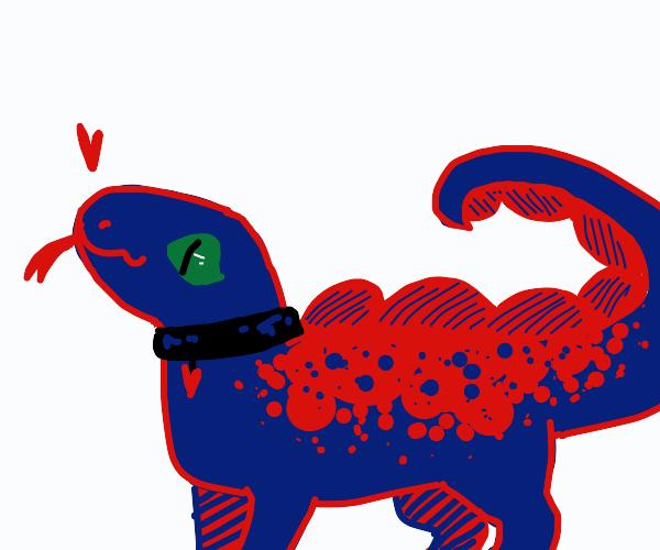 Purple per reptile