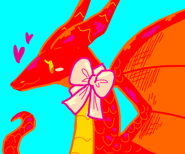 Red, girly dragon