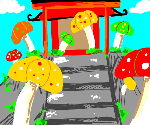 Mushroom shrine