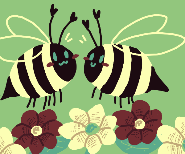 let's bee friends! (Not a typo)