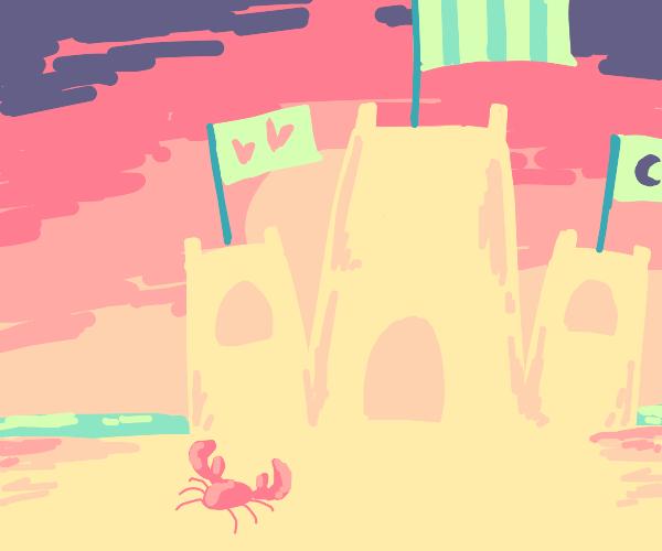 Giant sandcastle